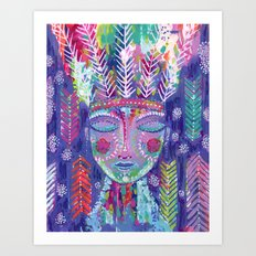 the warrior within Art Print