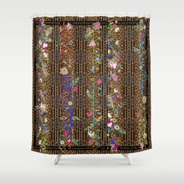 leopard enlightment Shower Curtain