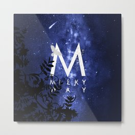Starry Night and Moon #7: Milky Way Metal Print
