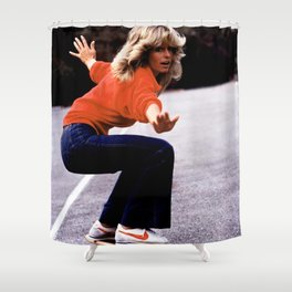 Farrah Played Skateboard Shower Curtain