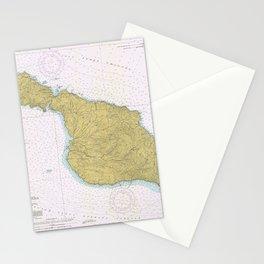 Vintage Map of Santa Catalina Island CA (1977) Stationery Cards