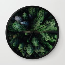 Aerial Forest Green Trees Wall Clock