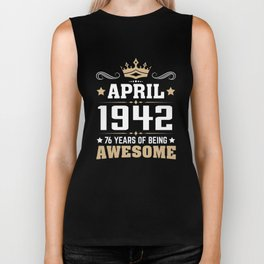 April 1942 76 years of being awesome Biker Tank