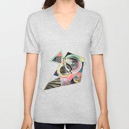 Modern geometric abstract pattern Unisex V-Neck