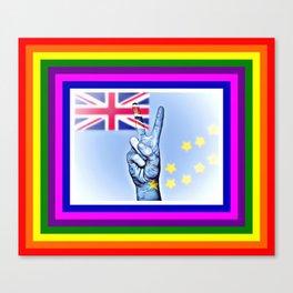 Tuvalu World Peace Flag Canvas Print