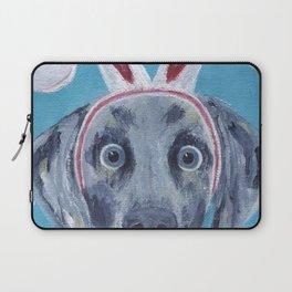 Easter Bunny Weimaraner Laptop Sleeve