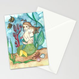 Mer-child & Mer-mother Stationery Cards