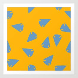 ARROWHEADS-GOLD Art Print