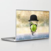 magritte Laptop & iPad Skins featuring Magritte Skull by HenryWine