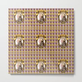 Mozart Wallpaper Metal Print