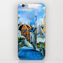 Preston Dickinson Street in Quebec iPhone Skin