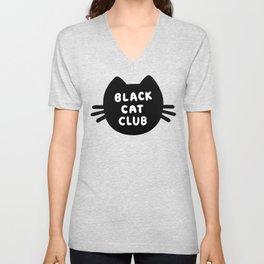 Black Cat Club Unisex V-Neck
