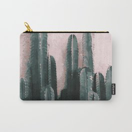 Cactus on Pink Background Carry-All Pouch