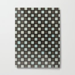 Checker Game:  Charcoal and Grey Metal Print