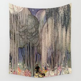 Kay Nielsen Of The Twelve Dancing Princesses From In Powder And Crinoline Wall Tapestry