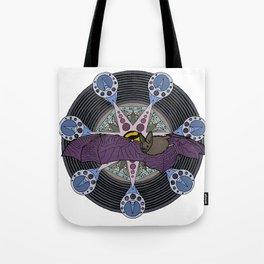 bat and heptagram Tote Bag