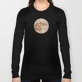 Moon Portrait 5, Linen Moon Long Sleeve T-shirt