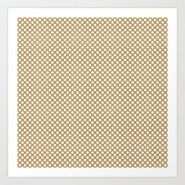 Pale Gold and White Polka Dots Art Print