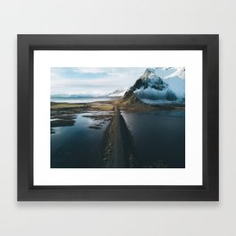 Mountain road in Iceland - Landscape Photography Framed Art Print