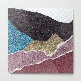 Glitter Paper Collage #9  Metal Print