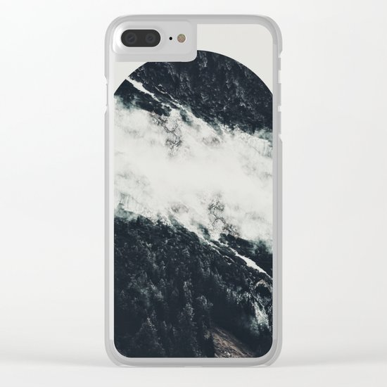 Black meets white Clear iPhone Case