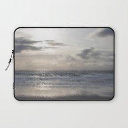Silver Scene ~ Ocean Ripple Effect Laptop Sleeve