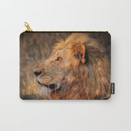 Lion in the evening light, South Africa Carry-All Pouch