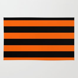 Black & Orange Stripes Rug