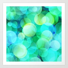 Green Bubble Art Print