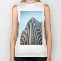 30 rock Biker Tanks featuring The Rock by MikeMartelli