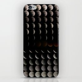 Super Moon, Blood Moon, Total Lunar Eclipse timelapse showing all phases iPhone Skin
