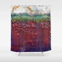 pagan Shower Curtains featuring Colors of the Season (christmas abstract) by brenda erickson