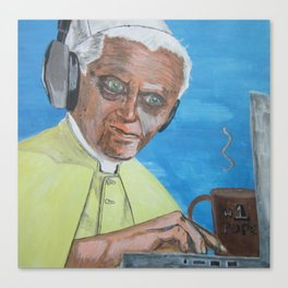 Retired Pope Canvas Print