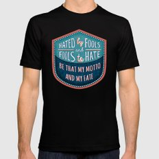 Hated by Fools  Mens Fitted Tee MEDIUM Black