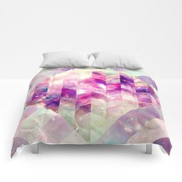 Abstract Geometric Pink Galaxy Comforters