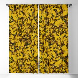 Yellow starry dense texture on a mustard background. Blackout Curtain