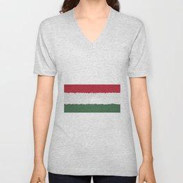 Extruded flag of Hungary Unisex V-Neck