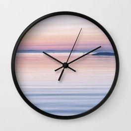 Pastel ripples sea and sky Wall Clock