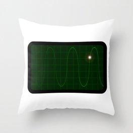 Oscilloscope Throw Pillow