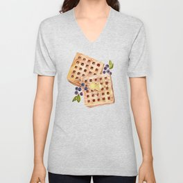 Blueberry Breakfast Waffles Unisex V-Neck