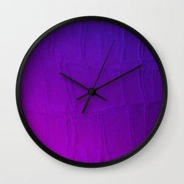 Purple Hues Reptilian Obscurity Wall Clock