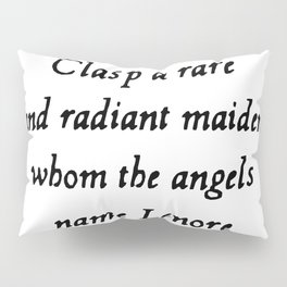 Poe The Raven Lenore Quote Gothic Pillow Sham