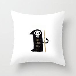 One Scythe Fits All Throw Pillow