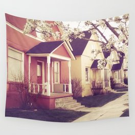 Colored Houses Wall Tapestry