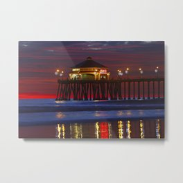 Sunset at Ruby's Surf City Diner   12/16/13 Metal Print