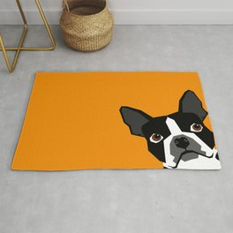 Peeking Terrier funny dog art customizable gift for dog lovers dog person must haves Rug