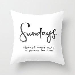 Sundays Throw Pillow