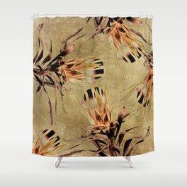 Vintage White Pride Proteas Shower Curtain