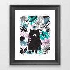 Bear adventure Framed Art Print