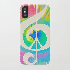 Tie Dye Music & Peace iPhone X Slim Case